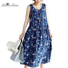 Belinerosa 2017 женские летние платья пляж повседневная цветочные печатный элегантный рукавов boho dress женщины tyw00328