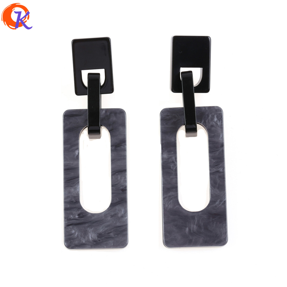 Cordial Design Earring Jewelry/Fashion Earrings/Large Earrings/Acetic Acid Material/Hand Made/Rectangle Geometry/Drop Earrings