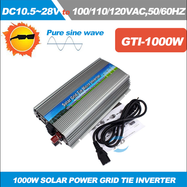1000W Grid Tie Inverter for 18V 36V Solar Panel MPPT Function To AC110V 220V Pure Sine