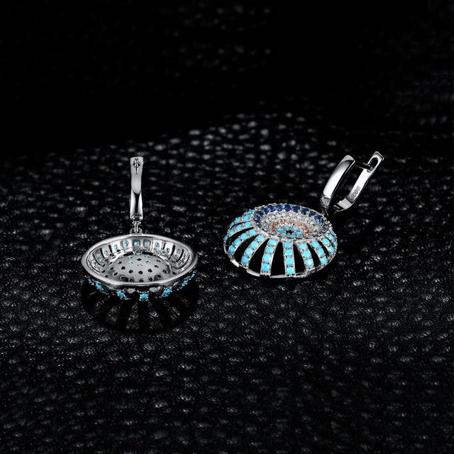 Bohemian Boho Simulated Turquoise Drop Earrings 925 Sterling Silver Earrings For Women Gem Korean Earrings Fashion Jewelry 2019 2