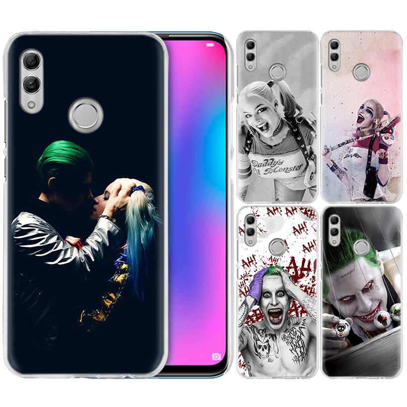 Suicide Squad Joker Harley Trường Hợp đối với Huawei Honor 8X Y9 9 10 Lite Chơi 7C 8C 8 S 8A 7 S 7A Pro V20 20i Y6 Y7 Y5 2019 Cứng PC Bìa