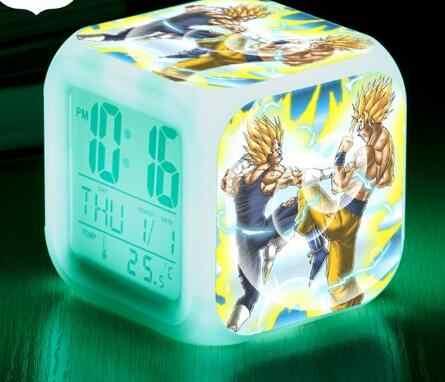 Dragon Ball Kid Assista LED Alarm Clock Decoração reloj despertador 7 cor Flash Relógios Digitais