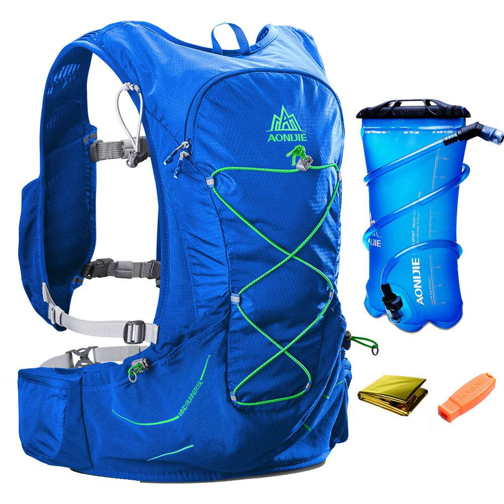 AONIJIE 15L Men Women Hydration Backpack Outdoor Sports Running Marathon Cross country Trail Racing Hiking Rucksack