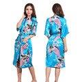 Trajes de satén de Dama de Honor de Boda Bata de Seda Ropa de Dormir Albornoz Rayon Camisón Largo Mujeres Kimono Pijama Ocasionales S-XXXL 010715