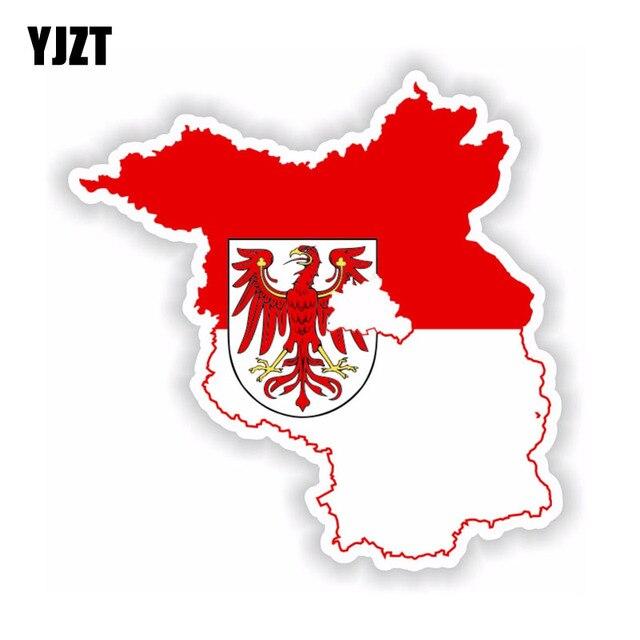 YJZT 12.2 CM * 12.3 CM voiture style brandebourg carte drapeau voiture autocollant moto carrosserie décalque 6-1749