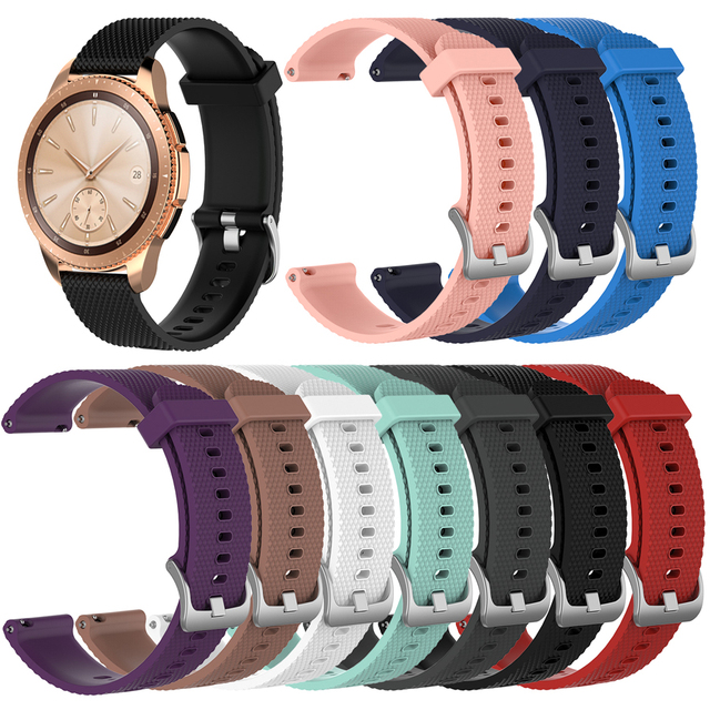 22mm 20mm Silicone Watchband for Samsung Galaxy Watch 46MM 42MM Rubber  Replacement Bracelet Band Strap
