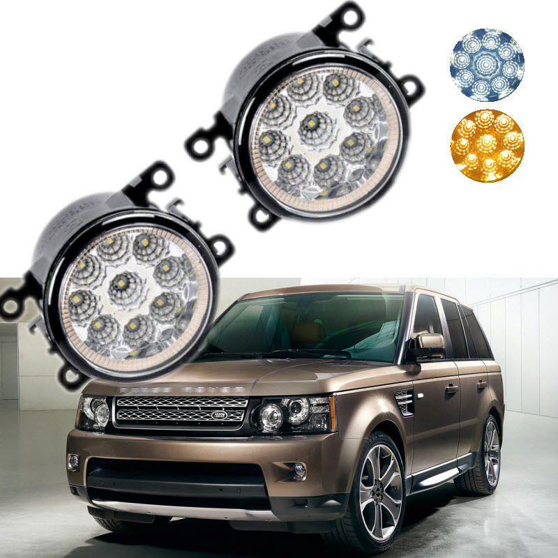 Car Styling For Land Rover Range Rover Sport LS '10-'13 9-Pieces Leds Chips LED Fog Light Lamp H11 H8 12V 55W Halogen Fog Lights for land rover range rover sport freelander 2 discovery 4 2006 2014 car styling 10w high power led fog lamps drl lights