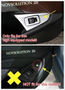 Для левой стороны 1 шт. ABS внутренняя задняя кнопка переключателя соединительной линии Накладка для BMW 5 серии G30 2017 2018 автостайлинг