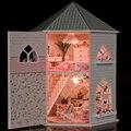 DIY Кукольные Домики Деревянные Кукольный Дом Мужской кукольный Детские Игрушки Dollhouse Мебель Миниатюрные Barbie Ремесла Аксессуары Игрушки