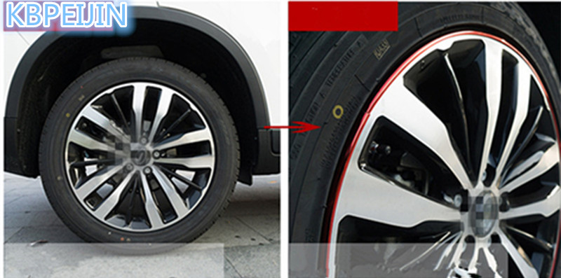 M Car Styling Chromium Plated Strip Rims Blade Tire Protection - Acura blades rims