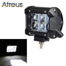 18W Car LED Work Light Bar 12V 24V Spot 4D Lens DRL For ATV 4X4 Truck