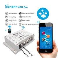 Sonoff 4CH Pro Smart Home RF Wifi Light Switch 4 Gang 3 Working Mode Inching Interlock