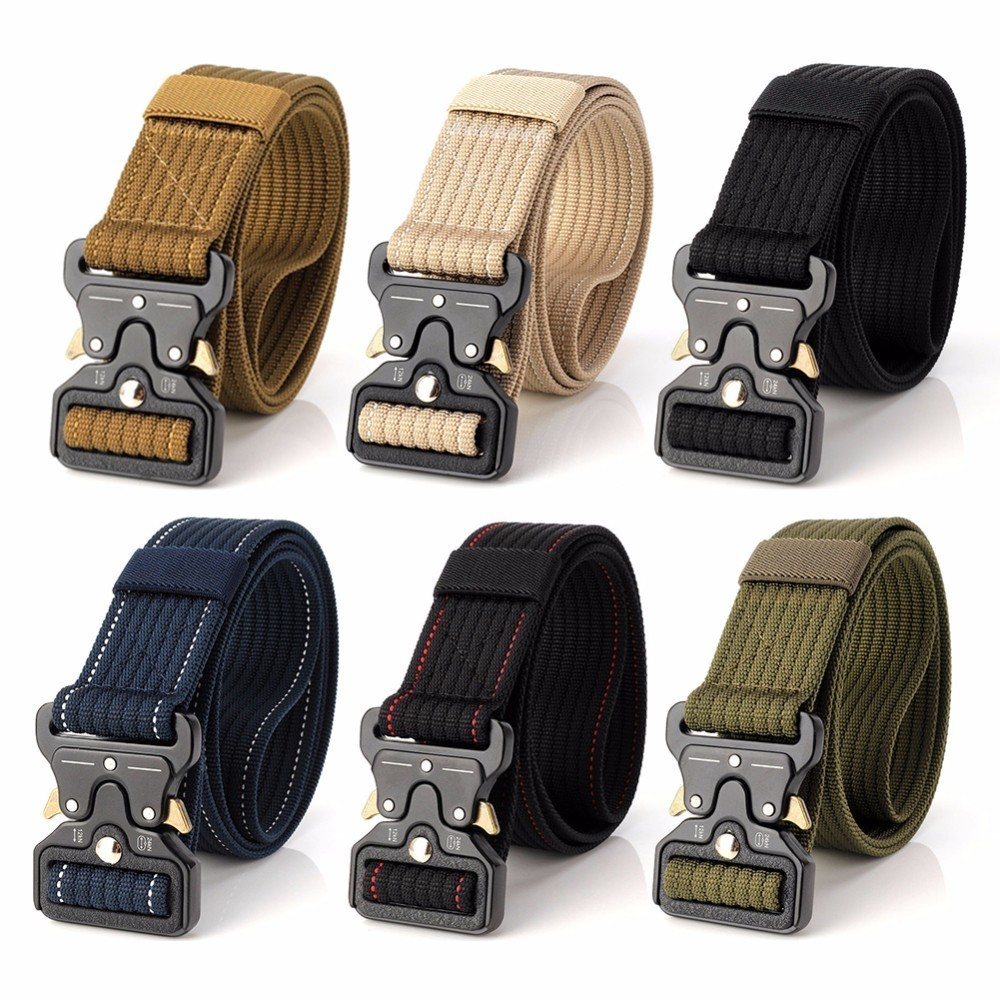 Military Equipment Tactical Waist Belt Men Nylon Metal Buckle Knock Belts Molle Combat Belt Outdoor Gear цена 2017