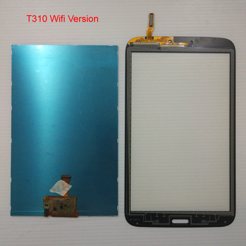 For Samsung Galaxy Tab 3 8.0 T310 T311 SM-T310 SM-T311 LCD Display Panel Monitor Module + Touch Screen Digitizer Sensor Glass