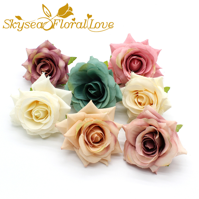 Artificial Rose Heads 8cm Silk Flowers Floral Fake Flower Diy Wreath