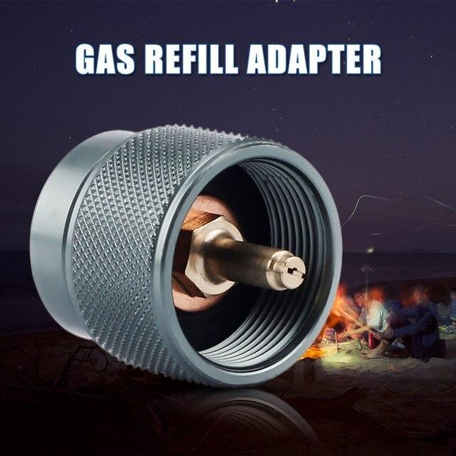 1L Camping en plein air cuisinière à gaz adaptateur Camping Propane petite entrée Conversion adaptateur Valve LPG cartouche tête adaptateur EN417