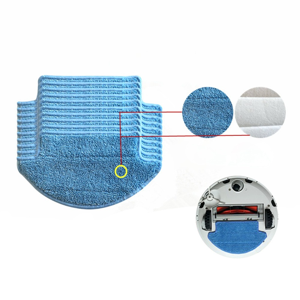 Thickness Magic paste Cleaning Mop Cloths for Xiaomi Mi Robot Roborock Vacuum Cleaner Replacement Parts xiaomi robot vacuum barrier tape protective replacement 2 meters for mi robot vacuum cleaner parts