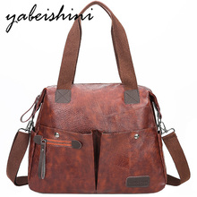 Fashion stitching Brown bags for women handbag 2019 Multi-outer bag leather shoulder bags Lady Large capacity Crossbody bag tote