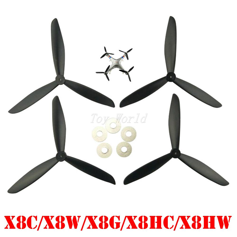 SYMA X8 X8C X8G X8W X8HC X8HW axis aircraft parts black Upgraded version propeller blades Drone spare parts Blade RC Quadcopter propeller protective guard landing skid for x8c x8w x8g x8hg white