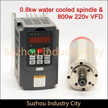 220V0.8KW  ER11 CNC Water Cooled Spindle Motor wood working machine 0.8kw VFD/ Inverter variable frequency driver speed control