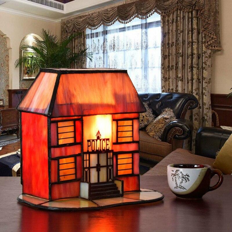 Exotische Tiffany Handgefertigte Bunte Glas Kleines Haus Led E14 Tischlampe  Für Hochzeitsgeschenke Schlafzimmer Nacht Deco Nachtlicht 2257 In Exotische  ...