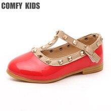 c959044e6 Fashsion rebites rebites sandálias meninas princesa sapatos para criança  bebê sapatos de couro meninas sandálias plana