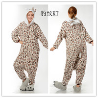 Mens Ladies Cartoon Leopard Adult Animal Onesies Onsie Pyjamas Pajamas Jumpsuits C370 S/M/L/XL/XL