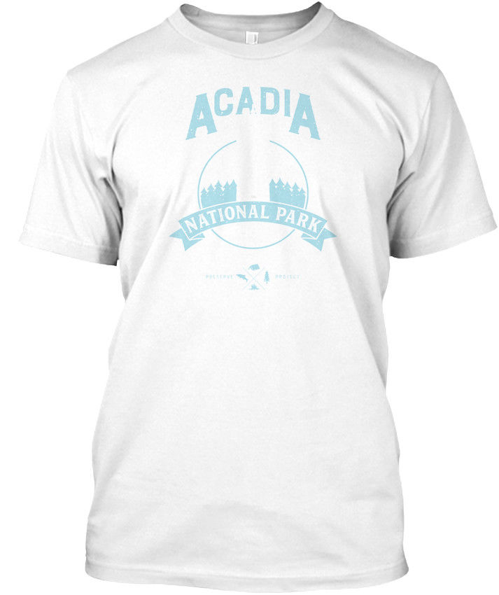 Acadia National Park Maine Vintage T Shi Popular Tagless Tee T-Shirt