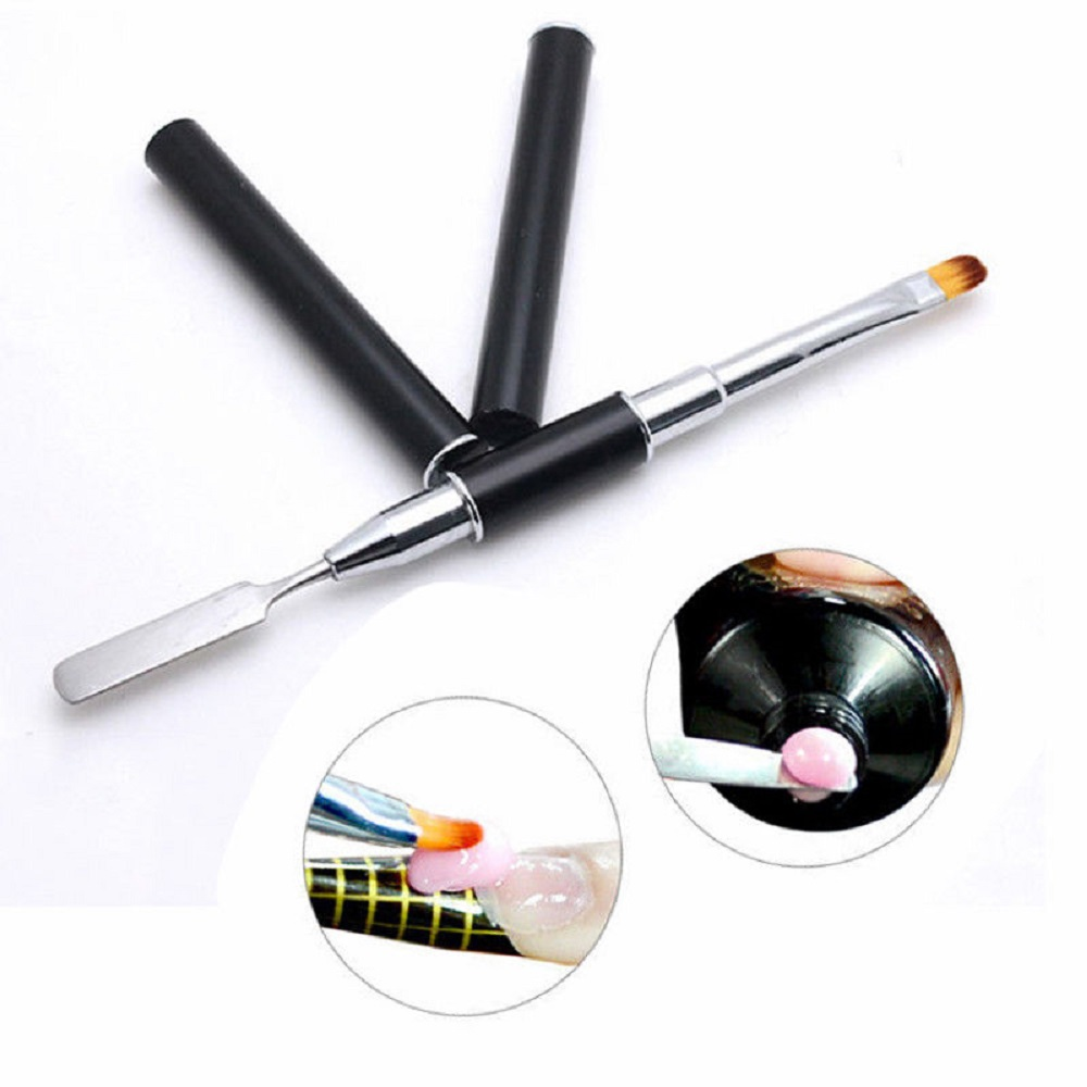 Gel Nail Brush Pen Dual-ended Slice Shape DIY Tool For Tips Extension