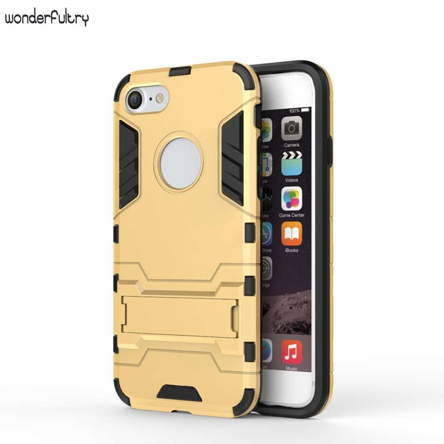 Wonderfultry For Iphone 5s Case Rugged Cool Iron Man Armor Impact Holster Shockproof Hard Phone Cover