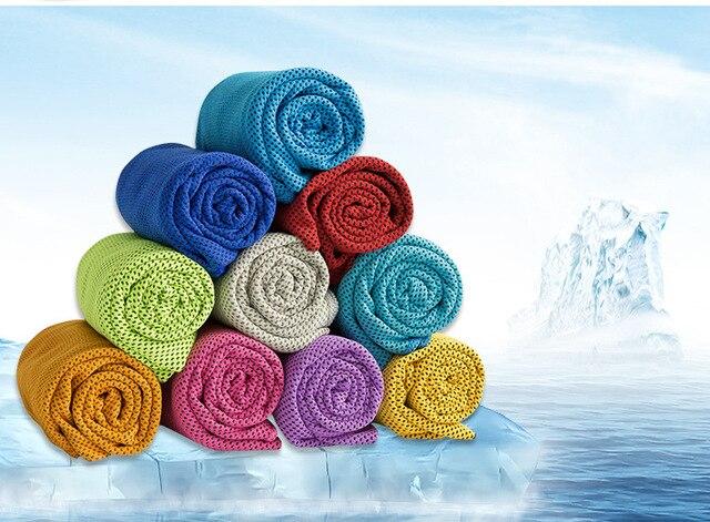 2018 Multicolore di Ghiaccio Asciugamano Ghiaccio Utility Rilievo Tovagliolo di Calore di Raffreddamento Duraturo Istante Riutilizzabile Freddo Freddo Asciugamano asciugamano Freddo 100*30 cm asciugamano