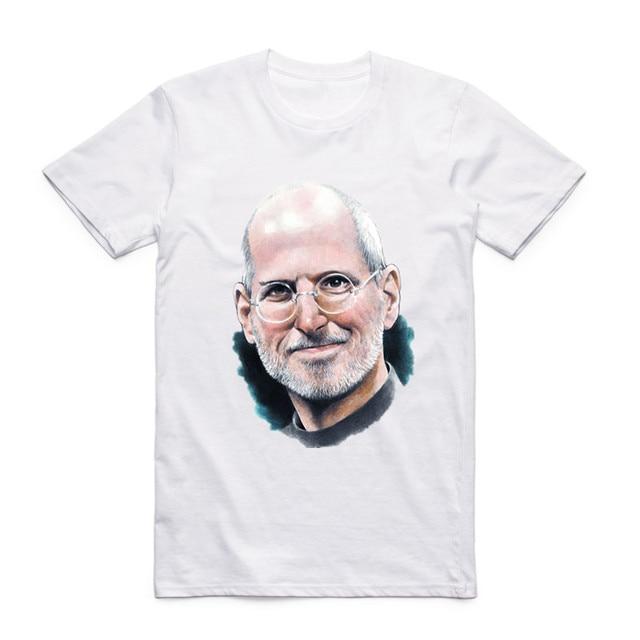 Fashion Men Women Print Steve Jobs Apple Design Classic T-shirt Short Sleeve O-Neck Summer Casual Top Tee Funny T Shirt  2