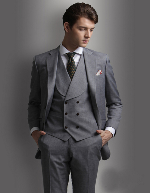 2018 Mens Grey Suit For Weddings Suits For Men Tuxedo For Gentle ...