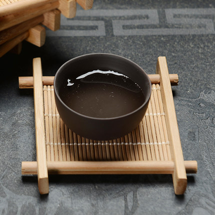 Handmade Kung Fu Tea Tile Accessories Bamboo Cup mat health environmental protection