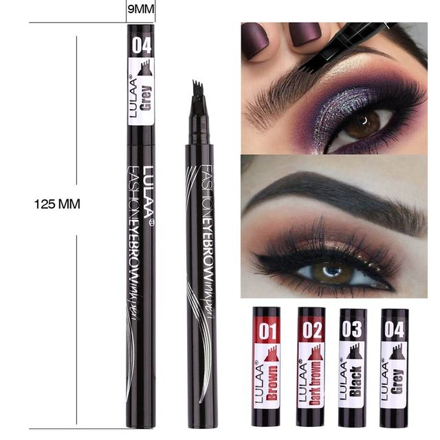 4 Colors Eyebrow Pencil Gel Four Heads Liquid Eyebrow Enhancer Waterproof Sweat-proof Four-claw Eyebrow Tattoo Pen 3
