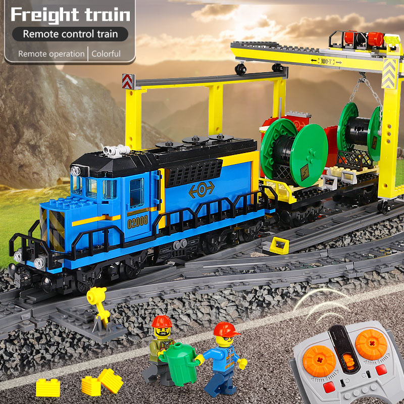 Здесь продается  Lepin 02008 02009 02039 The Cargo Train Set City Series compatible Legoinglys 60052 60098 3677 Building Bricks Toy for boys  Игрушки и Хобби