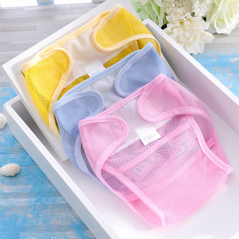 Summer Breathable Mesh Pants Baby Diapers Reusable Nappies Cloth Washable Infants Kid Training Pants Nappy Changing Cheap Stuff
