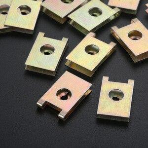 Image 4 - 20Pcs Car Fastener Clip Screw Base U Type J98 Nut Mounting Fastener Clips Automobile Engine Fender Bumper Guard Plate Clamp 3mm