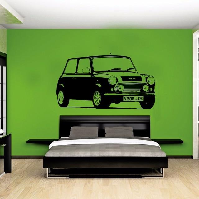 Finest Large Car Mini Cooper Classic Bedroom Wall Art Decal Sticker  OB67
