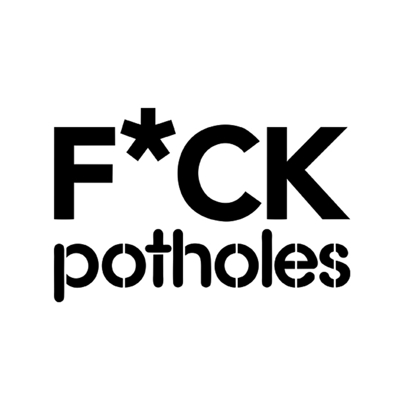 F* Potholes Speedbump Lower Wheel Japan Hellaflush Funny JDM Euro Racing Car Sticker For Truck Window Laptop Bumper