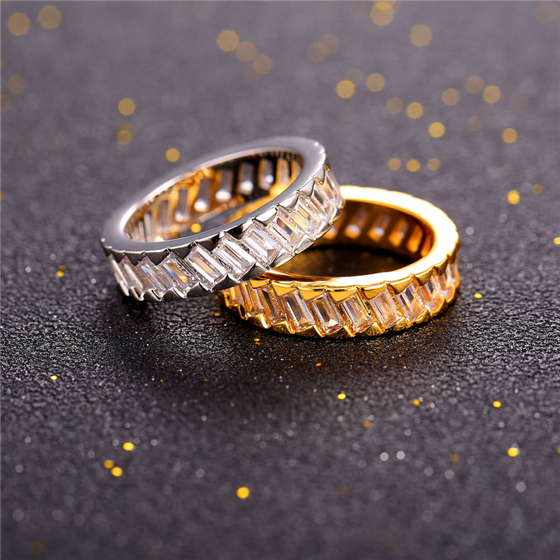 Hot Sale High Quality 5mm Round CZ White Gold Color Wedding Bands Ring for Women Men Engagement Jewelry Bague Anillos R2388