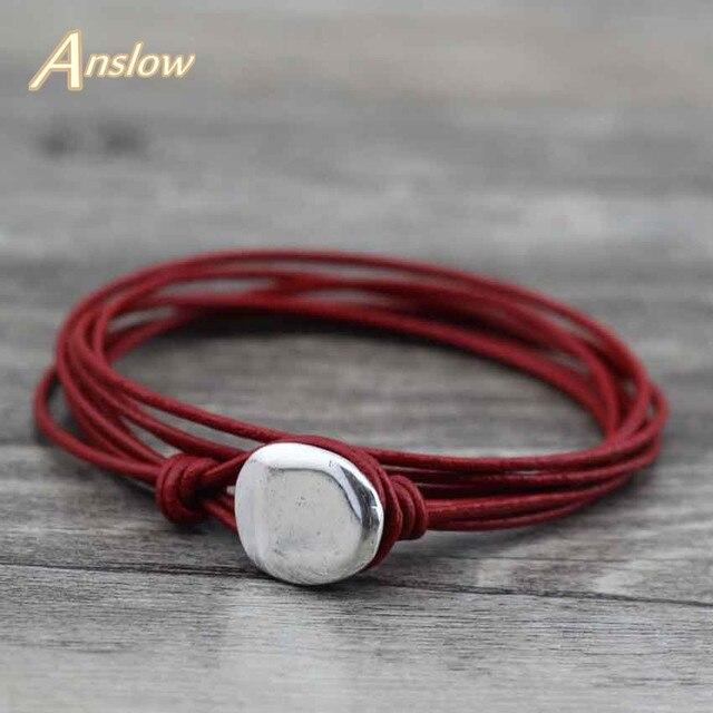 Anslow 2017 Trendy Design Wholesale Cheap Fashion Jewelry Men Lady Leather Brace