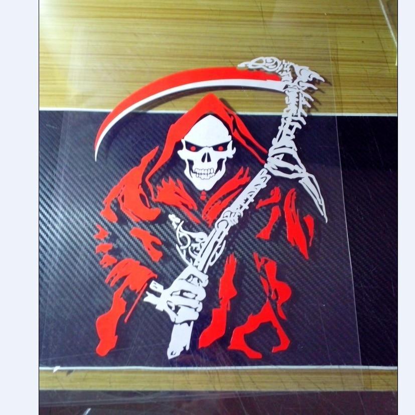 Russia High Quality Funny Vinyl Devil Dead Scythe Car