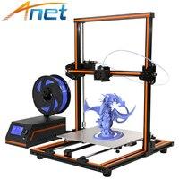 High Precision Anet E12 E10 Imprimante 3D Printer Update Threaded Rod Reprap Prusa i3 Impresora 3D Printer DIY Kit with Filament