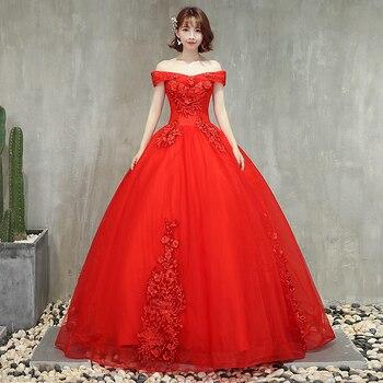 903c0edcc Mejor venta rojo vestidos de quinceañera DE LA apliques de hombro Formal  con reborde vestidos de