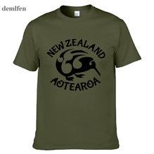 e11f8e5b940 Киви Аотеароа Новой Зеландии Новая мода Для мужчин футболки короткий рукав  Футболка хлопковые футболки Человек Костюмы