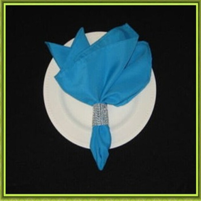Marious Brand 45*45cm banquet satin table napkin plain for event free shipping