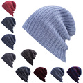 Free Shipping Winter beanies plain color knitted hat Unisex Outdoor Sports Knit Hat For Men Women