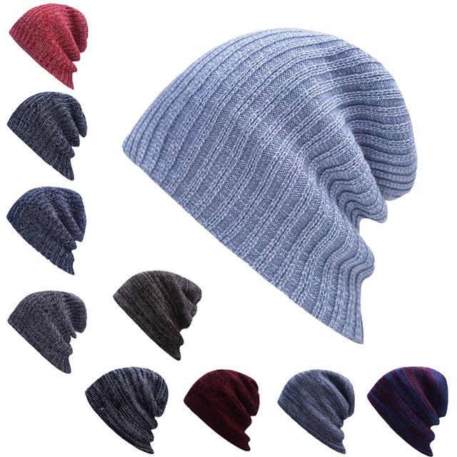 Envío Libre gorros de Invierno llano del color de punto sombrero ...