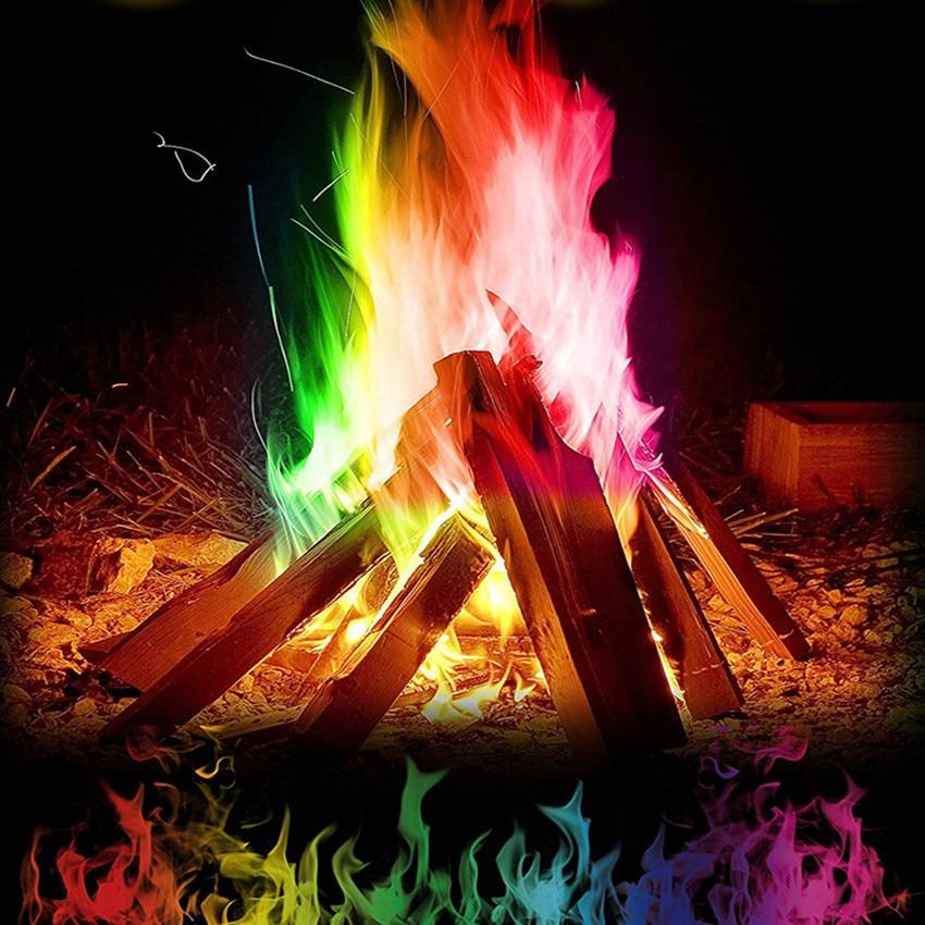 15 г Мистический Огонь Цветные Пламя костер Саше камин яма патио приколы игрушка Professional приколы пиротехника